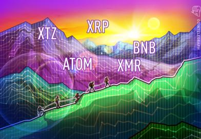 Top-5 Cryptos This Week: XTZ, ATOM, XRP, XMR, BNB